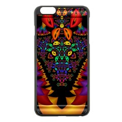 Symmetric Fractal Image In 3d Glass Frame Apple Iphone 6 Plus/6s Plus Black Enamel Case by Simbadda