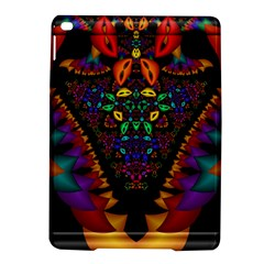 Symmetric Fractal Image In 3d Glass Frame Ipad Air 2 Hardshell Cases by Simbadda