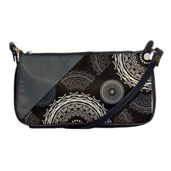 Abstract Mandala Background Pattern Shoulder Clutch Bags by Simbadda