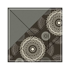 Abstract Mandala Background Pattern Acrylic Tangram Puzzle (6  X 6 ) by Simbadda