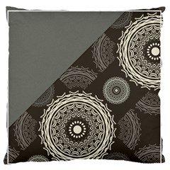 Abstract Mandala Background Pattern Standard Flano Cushion Case (two Sides) by Simbadda