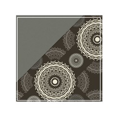 Abstract Mandala Background Pattern Small Satin Scarf (square) by Simbadda
