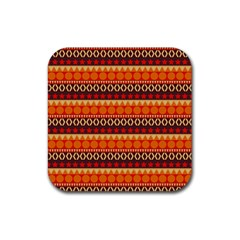 Abstract Lines Seamless Pattern Rubber Square Coaster (4 Pack)  by Simbadda