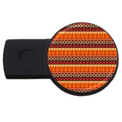 Abstract Lines Seamless Pattern Usb Flash Drive Round (2 Gb) by Simbadda