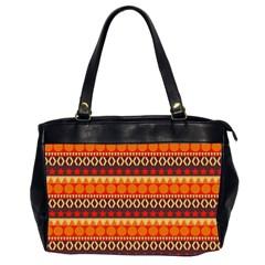 Abstract Lines Seamless Pattern Office Handbags (2 Sides)  by Simbadda