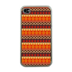 Abstract Lines Seamless Pattern Apple Iphone 4 Case (clear) by Simbadda