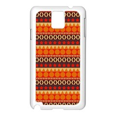 Abstract Lines Seamless Pattern Samsung Galaxy Note 3 N9005 Case (white) by Simbadda