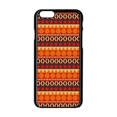 Abstract Lines Seamless Pattern Apple iPhone 6/6S Black Enamel Case