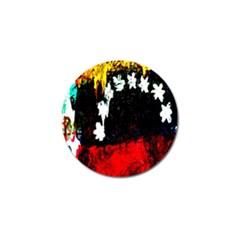 Grunge Abstract In Dark Golf Ball Marker (10 Pack) by Simbadda