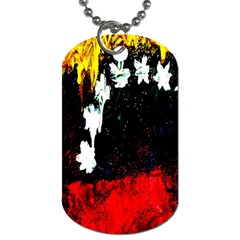 Grunge Abstract In Dark Dog Tag (two Sides) by Simbadda