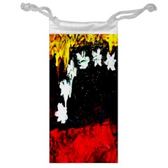 Grunge Abstract In Dark Jewelry Bag by Simbadda
