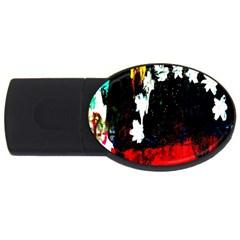 Grunge Abstract In Dark Usb Flash Drive Oval (4 Gb) by Simbadda