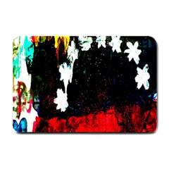 Grunge Abstract In Dark Small Doormat  by Simbadda