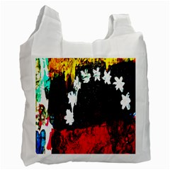 Grunge Abstract In Dark Recycle Bag (one Side) by Simbadda