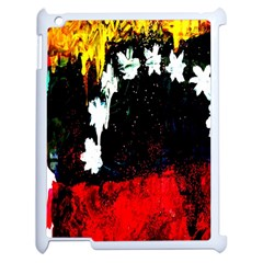 Grunge Abstract In Dark Apple Ipad 2 Case (white) by Simbadda