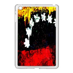 Grunge Abstract In Dark Apple Ipad Mini Case (white) by Simbadda