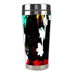 Grunge Abstract In Dark Stainless Steel Travel Tumblers by Simbadda