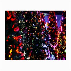 Lit Christmas Trees Prelit Creating A Colorful Pattern Small Glasses Cloth by Simbadda