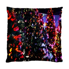 Lit Christmas Trees Prelit Creating A Colorful Pattern Standard Cushion Case (two Sides) by Simbadda