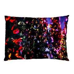 Lit Christmas Trees Prelit Creating A Colorful Pattern Pillow Case