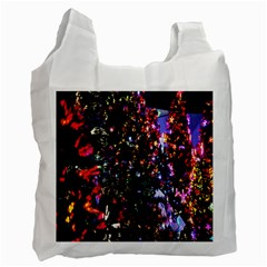 Lit Christmas Trees Prelit Creating A Colorful Pattern Recycle Bag (one Side) by Simbadda
