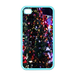 Lit Christmas Trees Prelit Creating A Colorful Pattern Apple Iphone 4 Case (color) by Simbadda