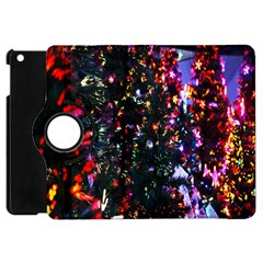 Lit Christmas Trees Prelit Creating A Colorful Pattern Apple Ipad Mini Flip 360 Case by Simbadda