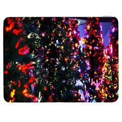 Lit Christmas Trees Prelit Creating A Colorful Pattern Samsung Galaxy Tab 7  P1000 Flip Case by Simbadda