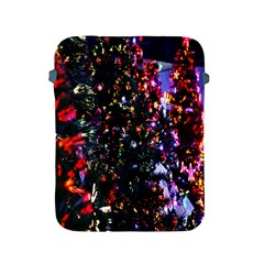 Lit Christmas Trees Prelit Creating A Colorful Pattern Apple Ipad 2/3/4 Protective Soft Cases by Simbadda