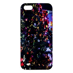 Lit Christmas Trees Prelit Creating A Colorful Pattern Iphone 5s/ Se Premium Hardshell Case by Simbadda