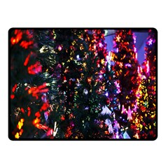 Lit Christmas Trees Prelit Creating A Colorful Pattern Double Sided Fleece Blanket (small)  by Simbadda