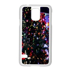 Lit Christmas Trees Prelit Creating A Colorful Pattern Samsung Galaxy S5 Case (white) by Simbadda