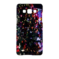 Lit Christmas Trees Prelit Creating A Colorful Pattern Samsung Galaxy A5 Hardshell Case  by Simbadda