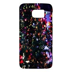 Lit Christmas Trees Prelit Creating A Colorful Pattern Galaxy S6 by Simbadda