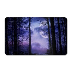 Moonlit A Forest At Night With A Full Moon Magnet (rectangular) by Simbadda