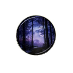 Moonlit A Forest At Night With A Full Moon Hat Clip Ball Marker (10 Pack) by Simbadda