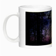 Moonlit A Forest At Night With A Full Moon Night Luminous Mugs by Simbadda