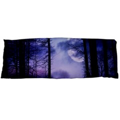Moonlit A Forest At Night With A Full Moon Body Pillow Case (dakimakura) by Simbadda