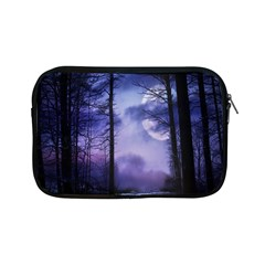 Moonlit A Forest At Night With A Full Moon Apple Ipad Mini Zipper Cases by Simbadda