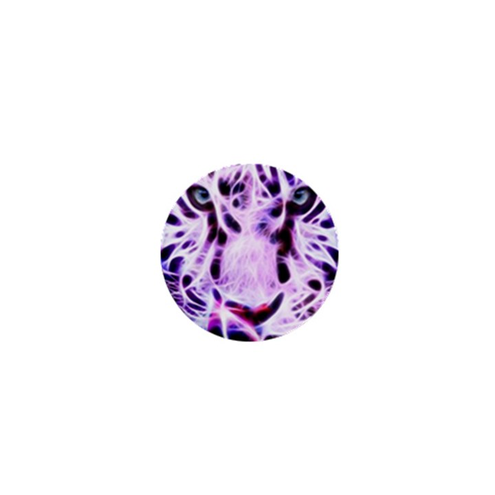 Fractal Wire White Tiger 1  Mini Magnets