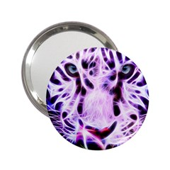 Fractal Wire White Tiger 2 25  Handbag Mirrors by Simbadda