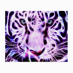 Fractal Wire White Tiger Small Glasses Cloth by Simbadda