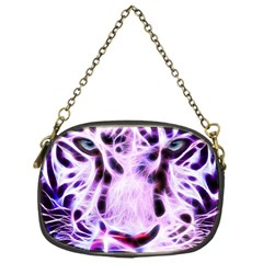 Fractal Wire White Tiger Chain Purses (one Side)  by Simbadda