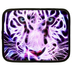 Fractal Wire White Tiger Netbook Case (xxl)  by Simbadda