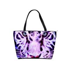 Fractal Wire White Tiger Shoulder Handbags by Simbadda