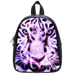 Fractal Wire White Tiger School Bags (small)  by Simbadda