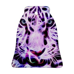 Fractal Wire White Tiger Ornament (bell) by Simbadda