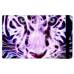 Fractal Wire White Tiger Apple Ipad 3/4 Flip Case by Simbadda