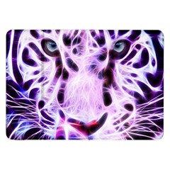 Fractal Wire White Tiger Samsung Galaxy Tab 8 9  P7300 Flip Case by Simbadda