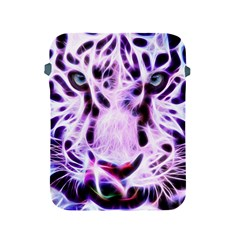 Fractal Wire White Tiger Apple Ipad 2/3/4 Protective Soft Cases by Simbadda